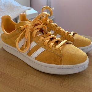 Adidas campus yellow sneakers